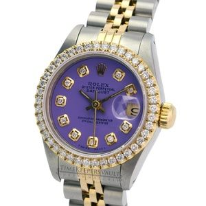 Rolex Lady Datejust Purple Diamond Dial/Bezel 26mm